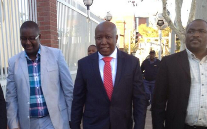 FILE: EFF Leader Julius Malema arrives at the Polokwane Magistrates Court on Friday, 21 June. Picture: Barry Bateman/EWN.