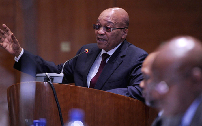 President Jacob Zuma during the debate on President Jacob Zuma's Annual Address to the National House of Traditional Leaders held at Tshwane Council Chambers in Pretoria on 7 April 2016. Picture: GCIS.