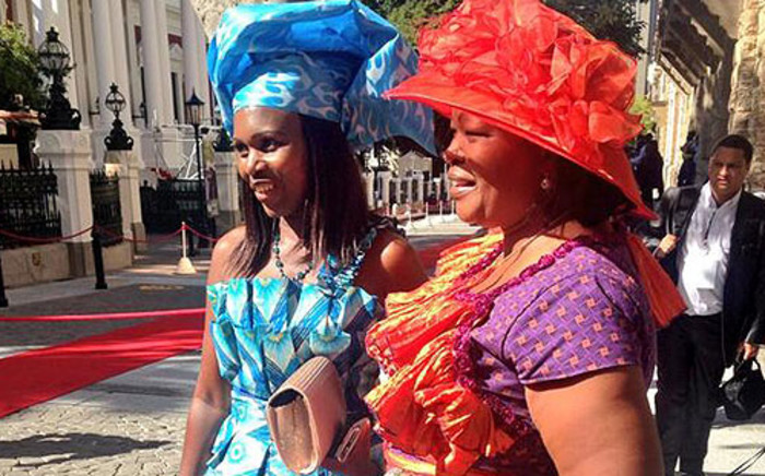 Some bold fashion statements on the SONA red carpet on 13 February 2014. Picture: Rahima Essop/EWN.