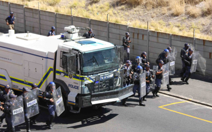 WC police refuse to say when protestors arrested in an illegal march will appear in court. Picture: Tertia van Rensburg/iWN.