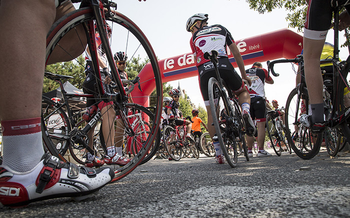 FILE: Kids and adults line up to beat the clock and compete in a time trial for fun in France. Picture: Thomas Holder/EWN.