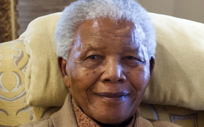 Former South African President Nelson Mandela. Picture: AFP/ CLINTON FOUNDATION/ BARBARA KINNEY