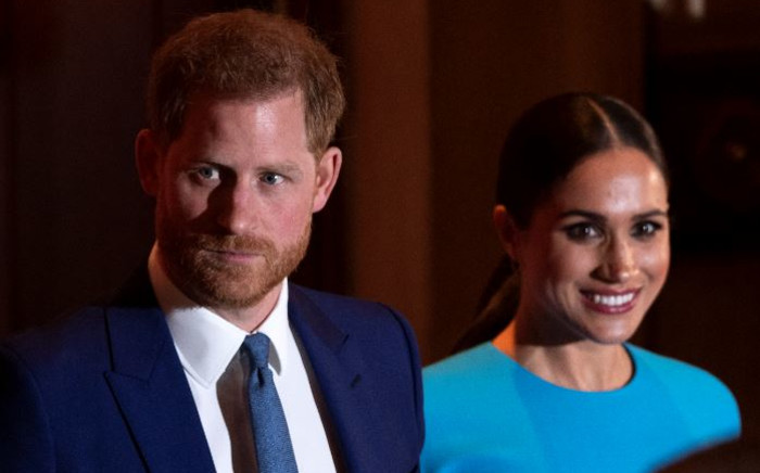 FILE: Britain's Prince Harry, Duke of Sussex, and Meghan, Duchess of Sussex at the Endeavour Fund Awards at Mansion House in London on 5 March 2020. Picture: JUSTIN TALLIS/AFP