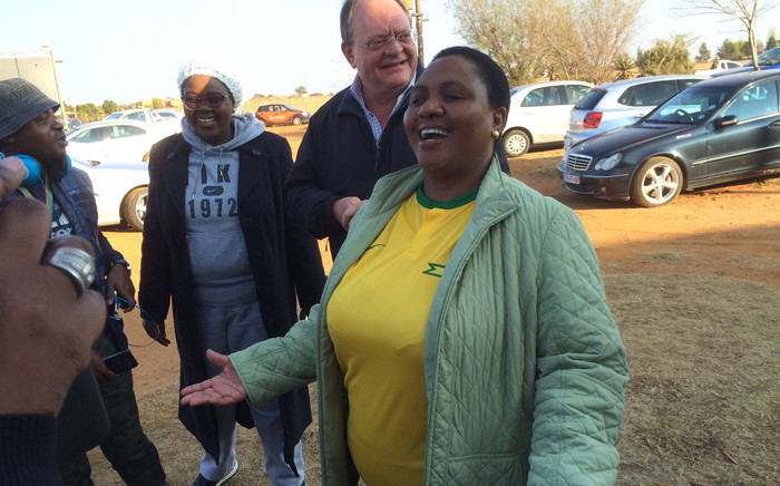 African National Congress's mayoral candidate for Tshwane Thoko Didiza arriving at the voting station in Pretoria to cast her vote on 3 August 2016. Picture: Barry Bateman/EWN.