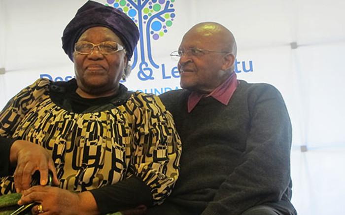 Archbishop Emeritus Desmond Tutu and his wife Nomalizo Leah Shenxane. Picture: Chanel September/EWN