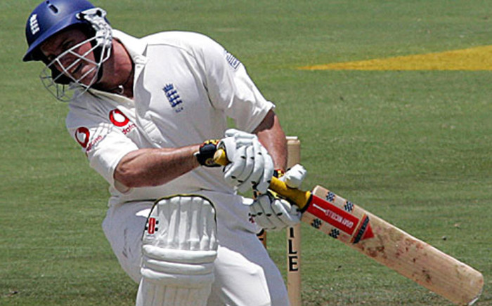 England's batsman Andrew Strauss ducks during a test match. Picture: AFP