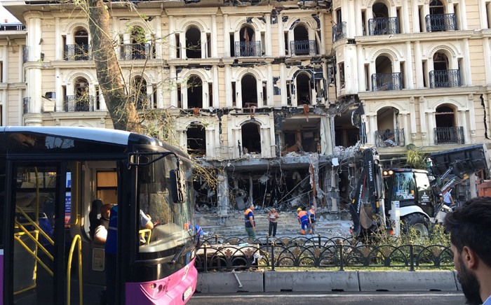 A car bomb ripped through a police bus in central Istanbul during the morning rush hour and killed 11 people on 7 June 2016. Picture: Abed Ahmed.