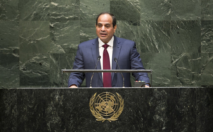 FILE: Egyptian President Abdel Fattah Al Sisi. Picture: United Nations Photo
