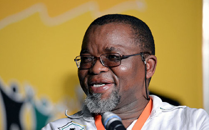 ANC Secretary General Gwede Mantashe smiles as he waits for Jacob Zuma to deliver his opening speech at the party's elective conference in Mangaung on 16 December 2012. Picture: Aletta Gardner/EWN