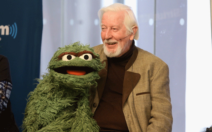 """In this file photo taken on October 09, 2014 Caroll Spinney """"Oscar and Big Bird"""" attends SiriusXM's Town Hall with original cast members from Sesame Street commemorating the 45th anniversary of the celebrated series debut on public television moderated by Weekend TODAY co-anchor Erica Hill in New York City. Picture: AFP."""