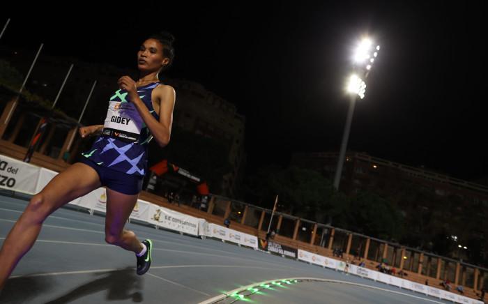 Ethiopian athlete Letesenbet Gidey. Picture: Twitter/@WorldAthletics