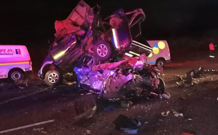 Seven people have died and one has been seriously injured following a multiple vehicle crash on the N1 freeway near Modimolle. Picture: Twitter.