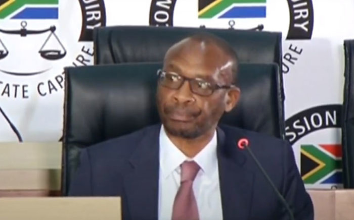 A screengrab of former Eskom CEO Tshediso Matona giving evidence at the Zondo commission of inquiry into state capture on 7 September 2020. Picture: SABC/YouTube