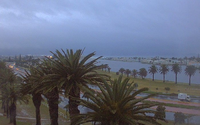 Webcam image of the City of Cape Town. Picture: @SAWeatherServic/Twitter