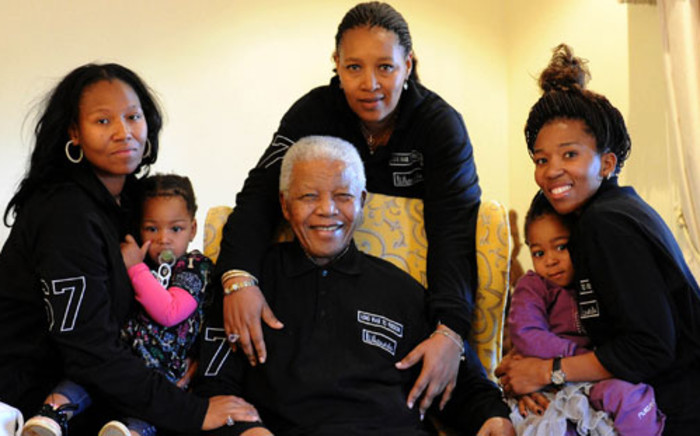 Nelson Mandela is seen with his family in Qunu in Eastern Cape on 18 June 2011. Picture: Peter Morey/SAPA