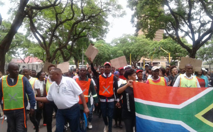 Participants march in Tshwane on 13 March 2020. The march was convened by Mmusi Maimane under his One SA Movement. Picture: @MmusiMaimane/Twitter