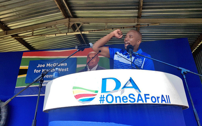 Democratic Alliance (DA) leader Mmusi Maimane campaigning in Potchefstroom, in the North West. Picture: @Our_DA/Twitter