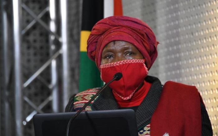 FILE: Minister Nkosazana Dlamini-Zuma speaking at a media briefing on Sunday 25 April 2020. Picture: GCIS