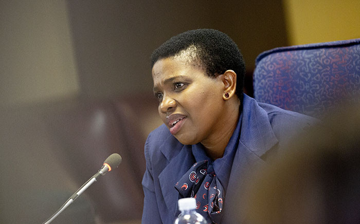 Advocate Nomgcobo Jiba at the Mokgoro Inquiry on 21 February. Picture: Kayleen Morgan/EWN