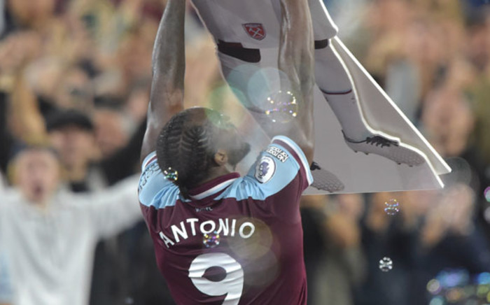 West Ham's Michail Antonio celebrates scoring a goal against Leicester City in their English Premier League match on 23 August 2021. Picture: @WestHam/Twitter
