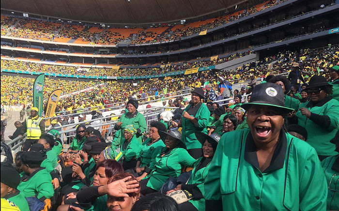 ANC supporters at the provincial manifesto launch in Soweto on 4 June 2016. Picture: Ziyanda Ngcobo/EWN.