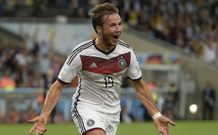 Germanys forward Mario Goetze celebrates after scoring a goal during the second half of extra-time during the 2014 Fifa World Cup final football match between Germany and Argentina at the Maracana Stadium in Rio de Janeiro, Brazil, on 13 July, 2014. Picture: AFP.
