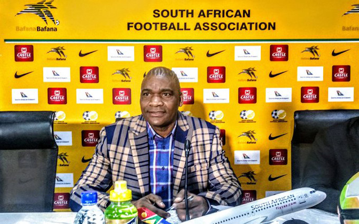 FILE: Bafana Bafana head coach Molefi Ntseki. Picture: @BafanaBafana/Twitter.
