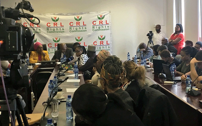 A young woman is one of the first to give her statement on the abuse she suffered at the hands of Pastor Timothy Omotoso. Picture: Katleho Sekhotho/EWN.