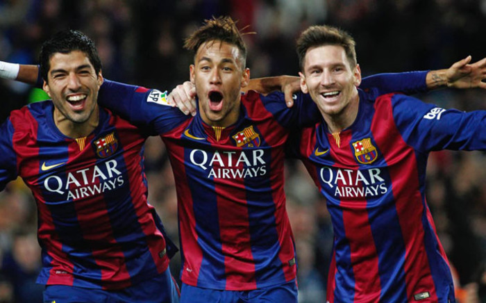 file: Barcelona's Luis Suarez, Neymar and Lionel Messi. Picture: Barcelona FC official Facebook page.