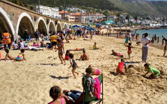 Beachgoers at Kalk Bay in Cape Town on 26 December 2017. Picture: City of Cape Town.