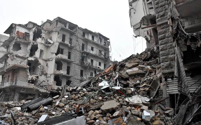 Aleppo's Bustan al-Qasr neighbourhood following fighting in the area. Picture: AFP