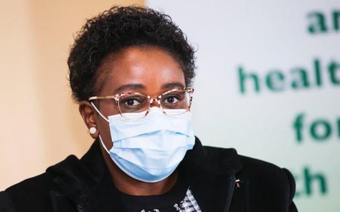 Acting Health Minister Mmamoloko Kubayi-Ngubane visited Bara Hospital on Saturday. Picture: Gauteng Province.