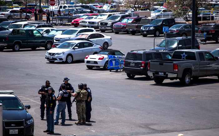 FILE: Law enforcement agencies respond to a shooting at a Walmart near Cielo Vista Mall in El Paso, Texas, on 3 August 2019. Picture: AFP.