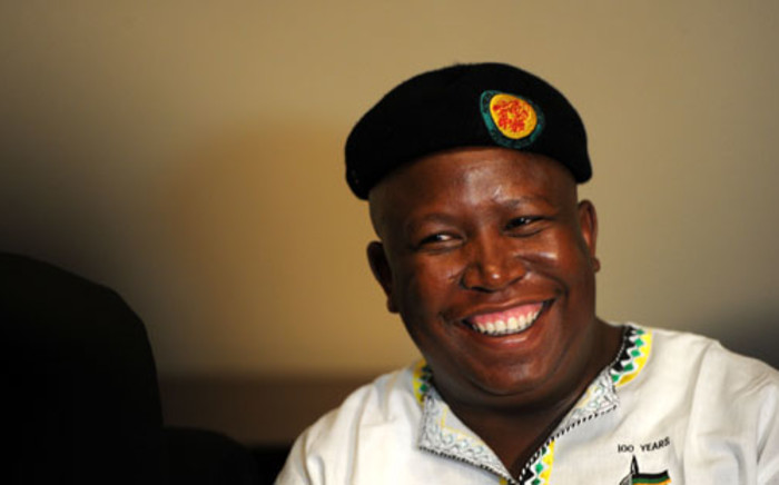 Economic Freedom Fighters leader Julius Malema was arrested on 19 December for exceeding the speed limit in Gauteng. Picture: Sapa.
