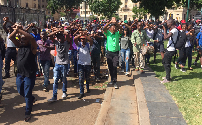 FILE: Students from the Tshwane University of Technology demonstrating in Pretoria CBD. Picture: Kgothatso Mogale/EWN.