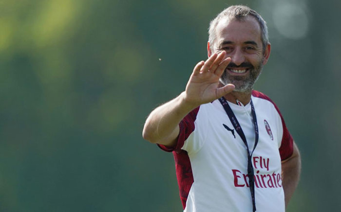 Marco Giampaolo. Picture: @acmilan/Twitter