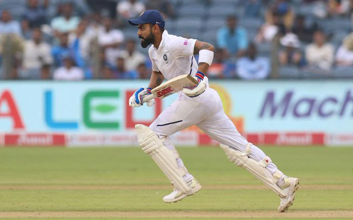Virat Kohli on day two of the second Test against South Africa on Friday, 11 October 2019. Picture: ICC/Twitter