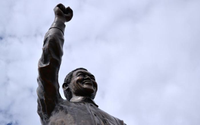 A statue of Nelson Mandela in Bloemfontein which was unveiled on Naval Hill in December 2012. Picture: Aletta Gardner/ EWN