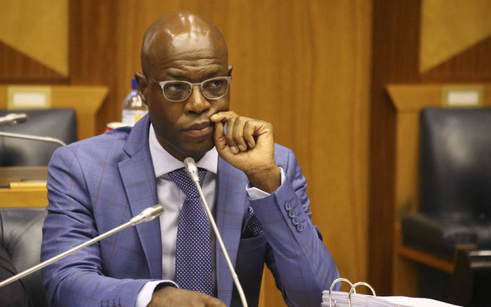 FILE: Former Eskom executive CEO Matshela Koko testifying before the Eskom parliamentary inquiry into state capture on 24 January 2018. Picture: EWN