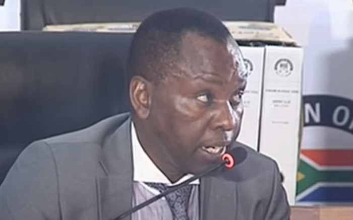 A screengrab of former Mineral Resources Minister Mosebenzi Zwane appearing at the state capture inquiry on 13 May 2021. Picture: SABC/YouTube