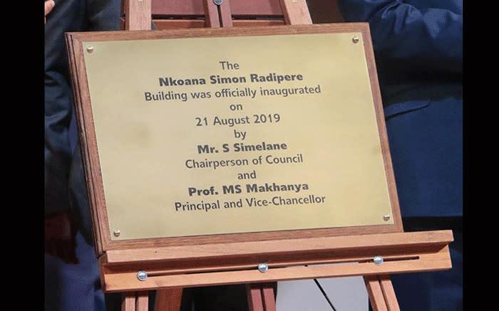 3 Unisa-geboue is herdoop na Madikizela - Mandela, Lembede & Radipere - EWN