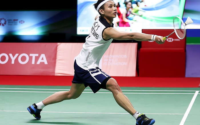 Top-ranked Tai pushes through to finals of badminton's Thailand Open - Eyewitness News