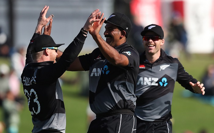 New Zealand's Phillips clubs record 46-ball ton against West Indies - Eyewitness News