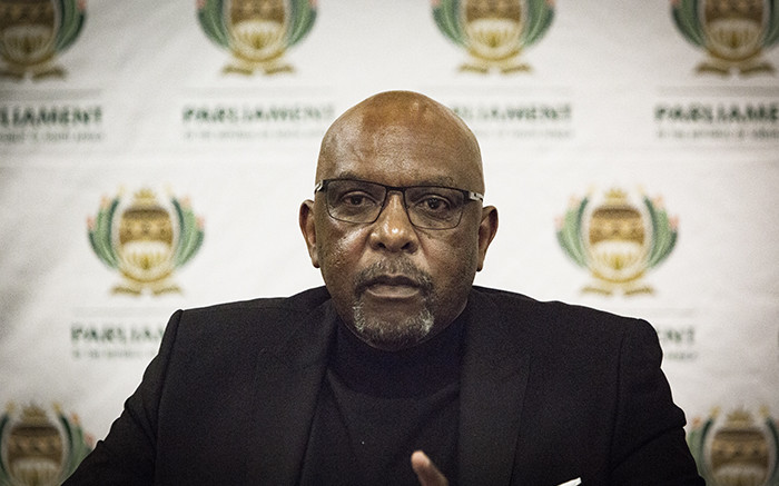 Co-chairperson of the constitutional review committee Vincent Smith during a media briefing in Kempton Park, Johannesburg 24 June 2018. The committee is tasked with reviewing Section 25 of the Constitution for the expropriation of land without compensation. Picture: Sethembiso Zulu/EWN.