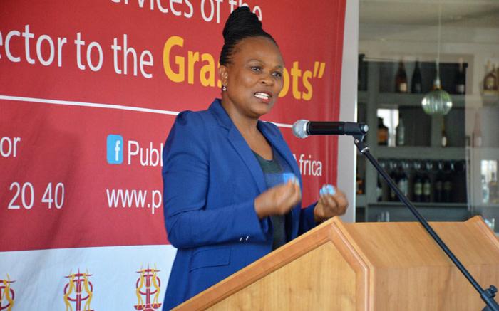 ANC distansieer hom van die optog teen Mkhwebane - EWN
