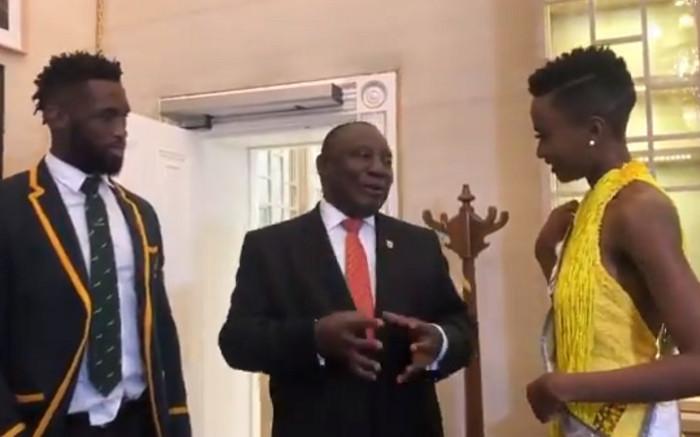 'You really make us proud': Ramaphosa starstruck over Zozi & Siya Kolisi at Sona - Eyewitness News