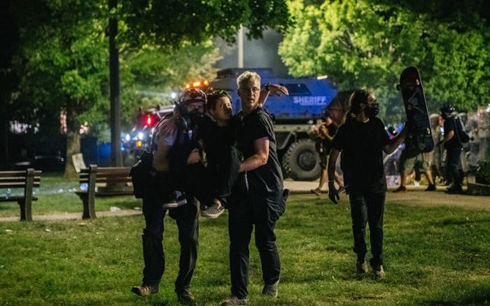 Protests against police brutality, killing of black man