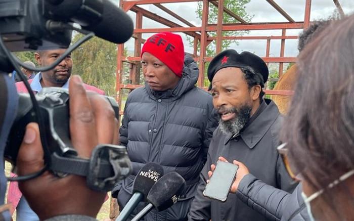 King Dalindyebo thanks Malema for brand new SUV, says he'll vote EFF - Eyewitness News