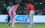 Kings XI Punjab captain Ravichandran Ashwin who, coming into bowl in the Indian Premier League, checked his run as Rajasthan Royals batsman Jos Buttler left his crease, and whipped off his bails, in a dismissal known as a 'Mankad. Picture: Twitter/IPL
