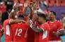 Tonga's players celebrate winning the Japan 2019 Rugby World Cup Pool C match between the United States and Tonga at the Hanazono Rugby Stadium in Higashiosaka on 13 October 2019. Picture: AFP